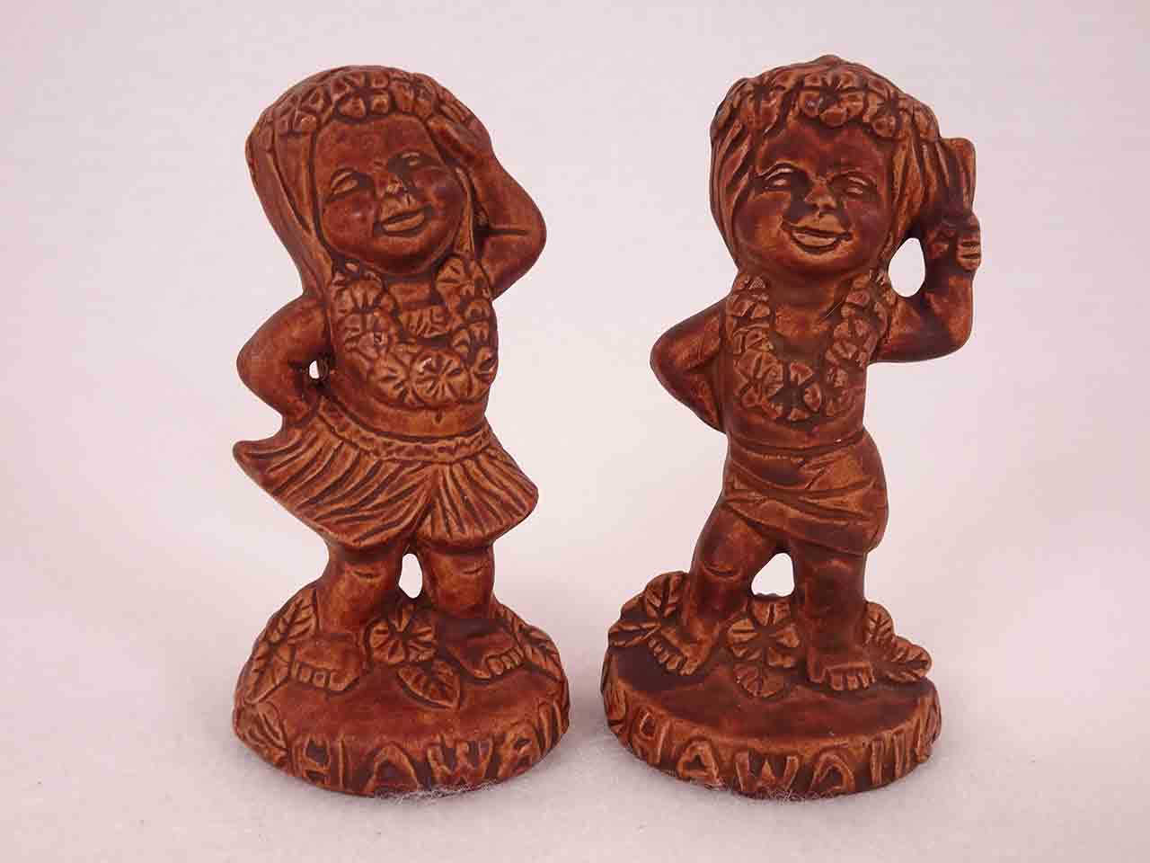 Twin Winton Hawaiian Boy & Girl Salt and Pepper Shakers